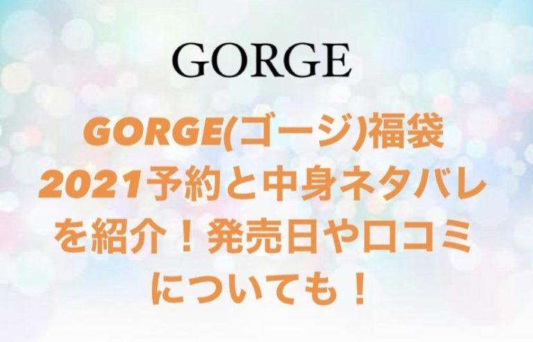 GORGE(ゴージ)福袋2021のtop画像